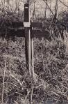 Alfred Wesson's original grave marker
