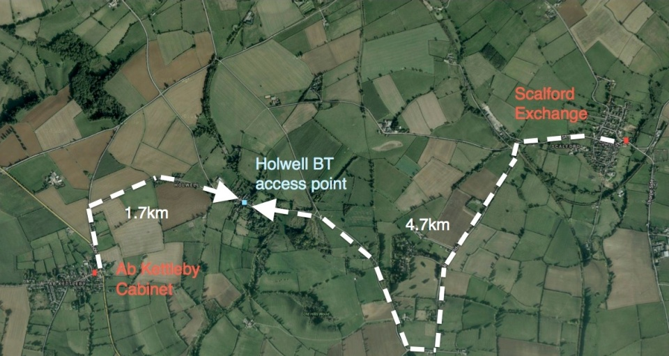 Holwell Ab Kettleby Scalford map