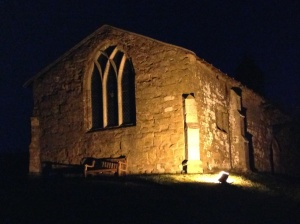 Holwell Church floodlight installed 6 Jun 13