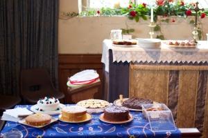 Homemade cakes and tea