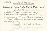 Joe Hewson's Driving Licence