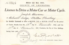 Joe Hewson's Driving Licence