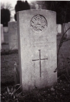 Joe Hewson's headstone