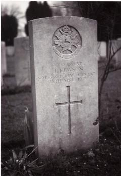 Joe Hewson's headstone