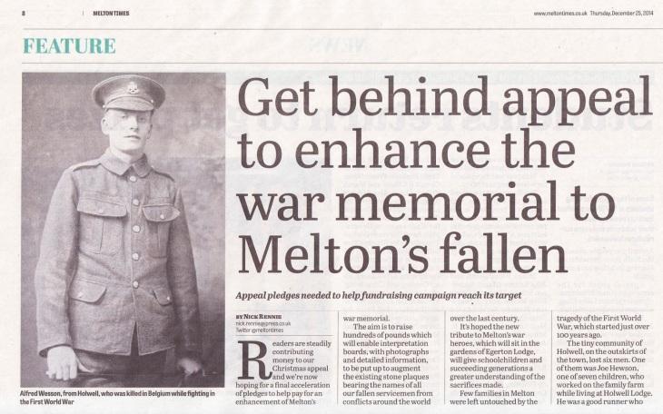 Melton Times 25 Dec 14