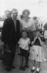 Philip, Nancy, Trevor and Sonia on holiday in Wales in 1956