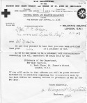 Red Cross telegram from 1943