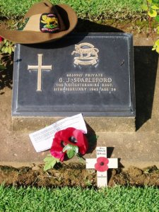Cyril Stapleford's grave in Thailand